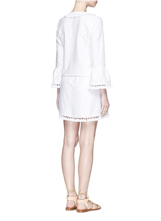 Back View - Click To Enlarge - Talitha - 'Shyla' floral cutwork drawstring tunic dress