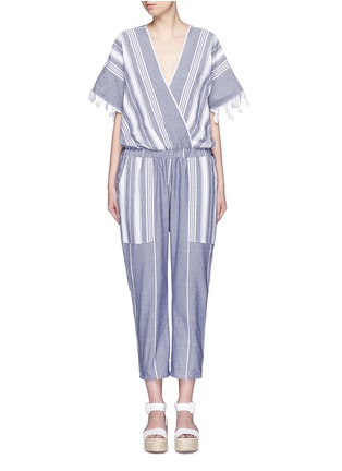 Main View - Click To Enlarge - Koza - 'Merry' variegated herringbone stripe jumpsuit