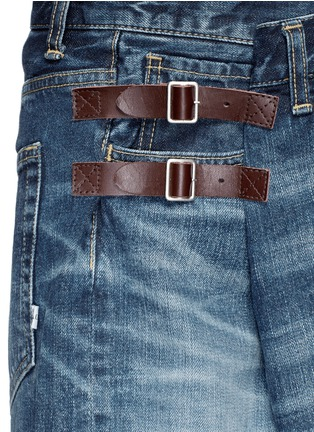 FACETASM-Foldover strap front oversized denim shorts