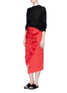 ISA ARFENRuffle trim poplin skirt