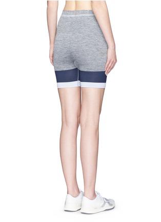 Back View - Click To Enlarge - Lndr - 'Cadet' circular knit high waist bike shorts