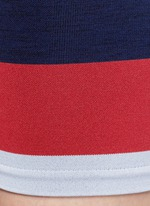 'Cadet' circular knit high waist bike shorts