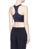 'Aero' circular knit sports bra