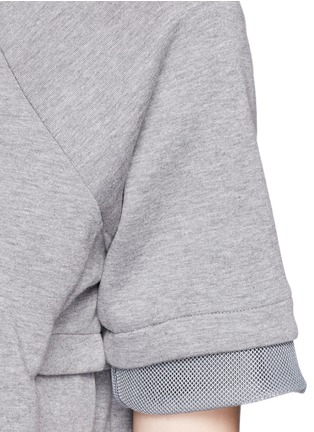 Detail View - Click To Enlarge - Nike - 'Tech Fleece' mesh cuff jersey dress