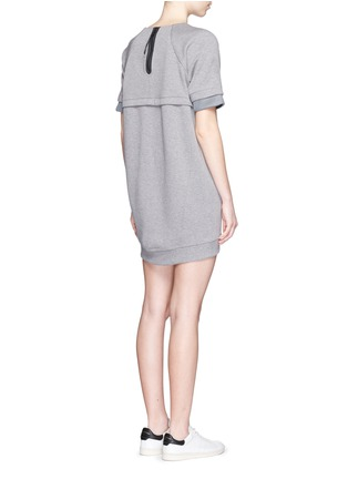 Back View - Click To Enlarge - Nike - 'Tech Fleece' mesh cuff jersey dress