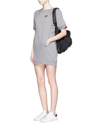 Figure View - Click To Enlarge - Nike - 'Tech Fleece' mesh cuff jersey dress
