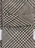 Glen plaid wool tie