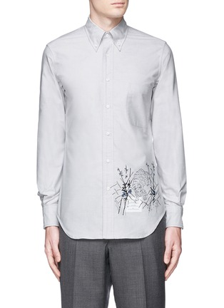 Main View - Click To Enlarge - Thom Browne - Tiger embroidery cotton Oxford shirt