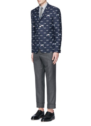 Figure View - Click To Enlarge - Thom Browne - Tiger embroidery cotton Oxford shirt