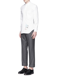 THOM BROWNEPalace embroidery cotton Oxford shirt