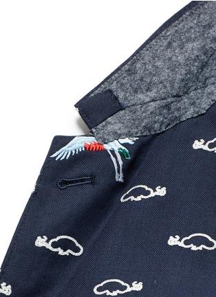 细节 - 点击放大 - THOM BROWNE - 云朵飞鸟刺绣羊毛西服外套