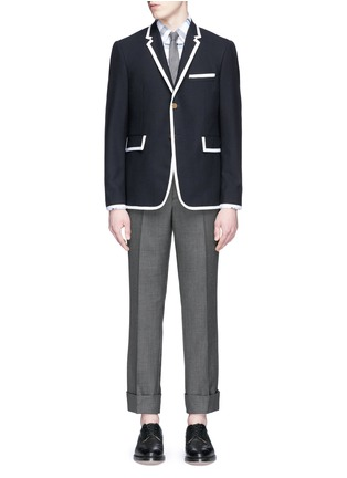 Thom Browne - Grosgrain trim wool blazer