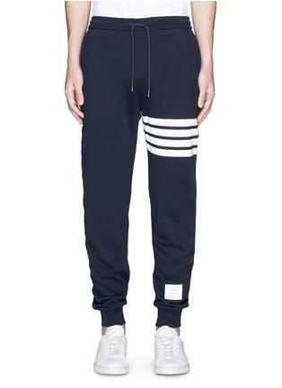 Thom Browne-Stripe leg cotton sweatpants