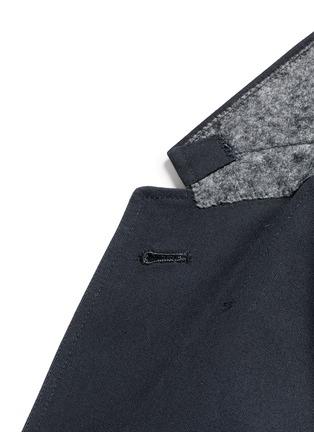 细节 - 点击放大 - THOM BROWNE - 罗缎拼贴纯棉西服外套