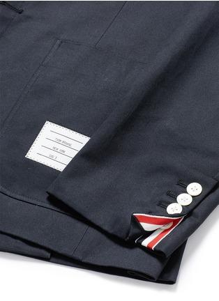 - THOM BROWNE - 罗缎拼贴纯棉西服外套