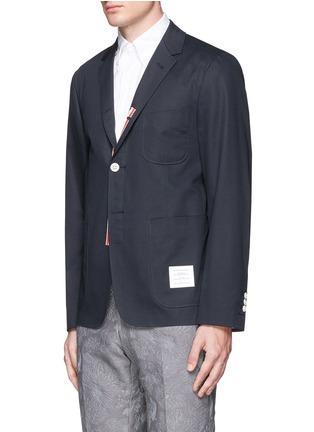 正面 -点击放大 - THOM BROWNE - 罗缎拼贴纯棉西服外套