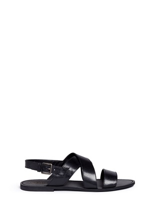 Main View - Click To Enlarge - Cole Haan - 'Edie' crisscross leather slingback sandals