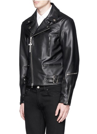 Front View - Click To Enlarge - Givenchy - Leather biker jacket