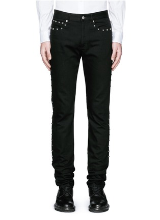 Detail View - Click To Enlarge - Givenchy - Stud denim jeans