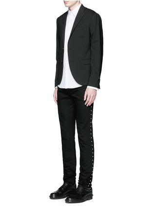 Figure View - Click To Enlarge - Givenchy - Stud denim jeans