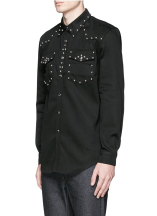Front View - Click To Enlarge - Givenchy - Stud denim shirt
