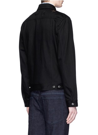 Back View - Click To Enlarge - Givenchy Beauty - Leather star appliqué denim jacket