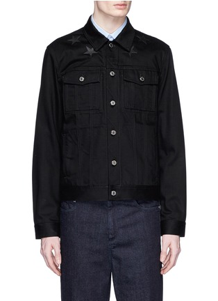 Main View - Click To Enlarge - Givenchy Beauty - Leather star appliqué denim jacket