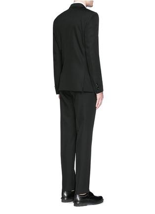 Givenchy-Satin Madonna collar wool tuxedo suit