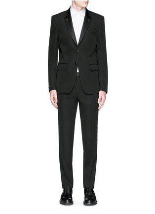 Main View - Click To Enlarge - Givenchy Beauty - Satin Madonna collar wool tuxedo suit