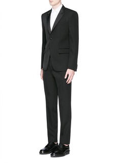 Givenchy Satin Madonna collar wool tuxedo suit