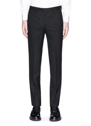 Main View - Click To Enlarge - Givenchy - Metal plate wool hopsack pants