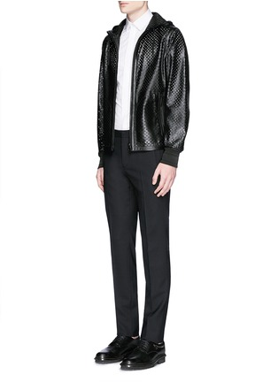 Figure View - Click To Enlarge - Givenchy - Metal plate wool hopsack pants