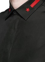 Star stripe collar poplin shirt