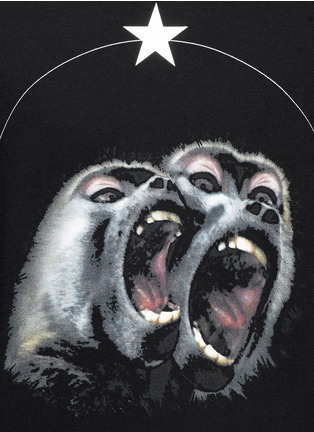 Detail View - Click To Enlarge - Givenchy - Monkey print sweatshirt