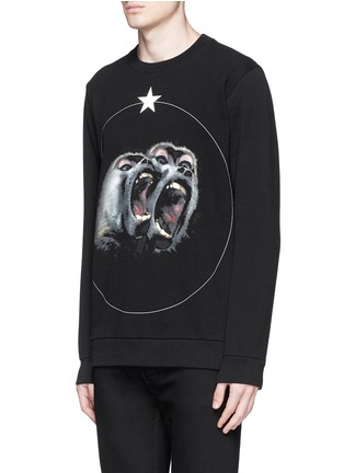 Front View - Click To Enlarge - Givenchy - Monkey print sweatshirt