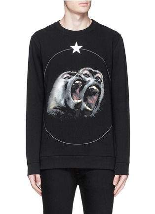 Main View - Click To Enlarge - Givenchy - Monkey print sweatshirt