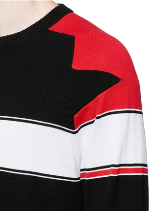 Detail View - Click To Enlarge - Givenchy - Intarsia panel cotton sweater