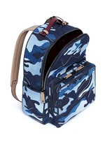 Camouflage patchwork denim backpack