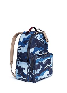 Valentino Camouflage patchwork denim backpack