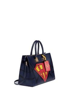 VALENTINO'Superhero Superman' leather zip tote