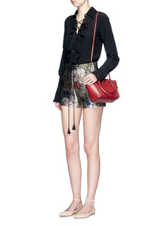 VALENTINO'Rockstud' mini leather zip tote
