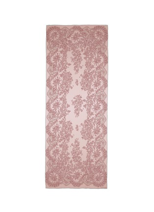 Main View - Click To Enlarge - Valentino - Floral lace print silk satin scarf