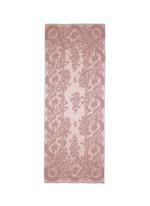 Floral lace print silk satin scarf