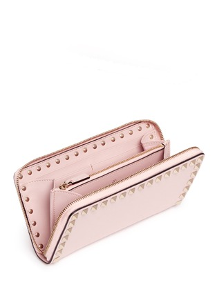 Valentino - 'Rockstud' leather zip continental wallet