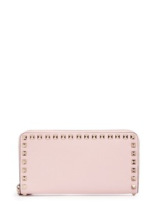 Valentino 'Rockstud' leather zip continental wallet
