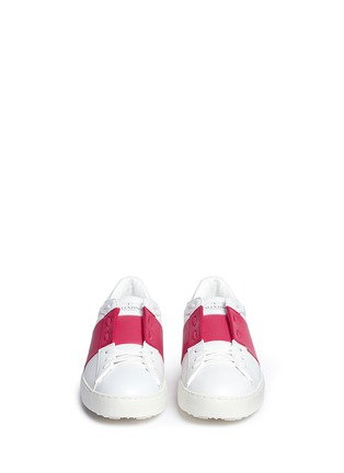 Valentino - 'Rockstud' colourblock leather sneakers
