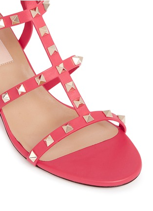 Detail View - Click To Enlarge - Valentino - 'Rockstud' caged leather sandals