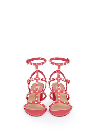 Front View - Click To Enlarge - Valentino - 'Rockstud' caged leather sandals