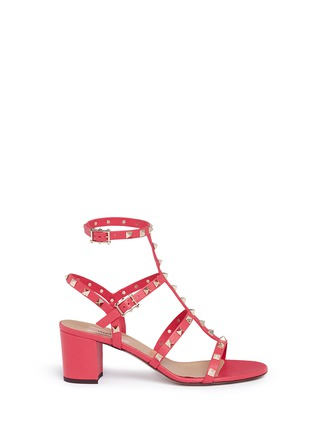 Main View - Click To Enlarge - Valentino - 'Rockstud' caged leather sandals