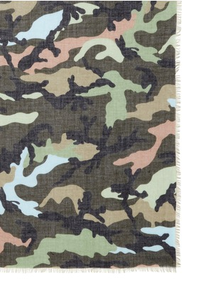 Detail View - Click To Enlarge - Valentino - Camouflage print cashmere-silk scarf